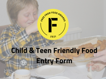 freefrom food awards, child friendly, teen, entry form