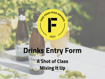 entry form, drinks, freefrom food awards