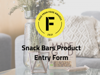 snack bars, entry form, freefrom food awards