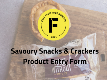 savoury snacks, crackers, entry form, freefrom food awards