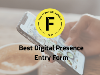 digital presence, freefrom food awards, entry form